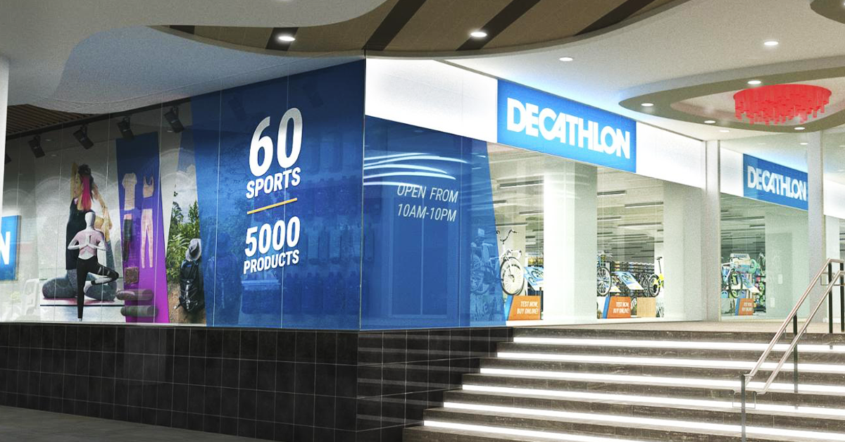 Decathlon Orchard's newest outlet at The Centrepoint spans across 2 levels.